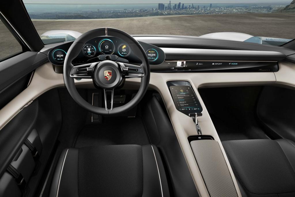 Porsche Mission E concept - interior