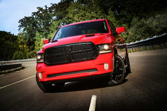 Ram 1500 Night with Mopar accessories - front
