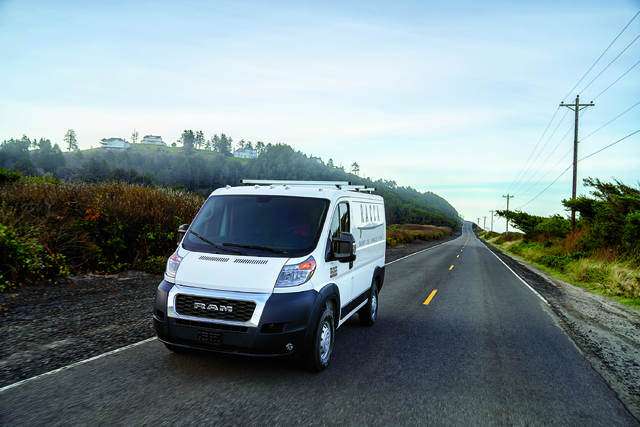 2019 Ram ProMaster - front, white