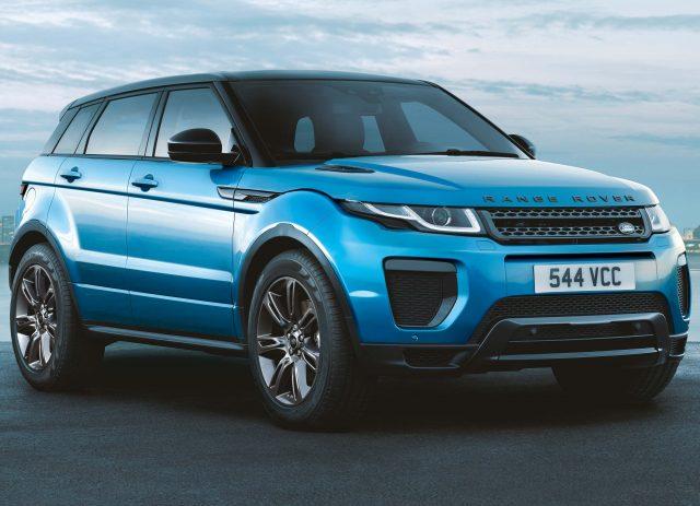 2018 Range Rover Evoque Landmark special edition - front, Moraine Blue