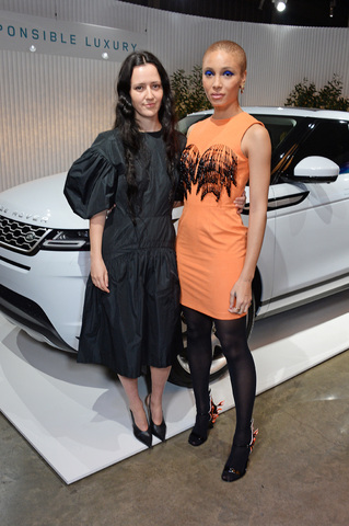 2020 Range Rover Evoque launch - designer Ashley Williams (L), model Adwoa Aboah (R)