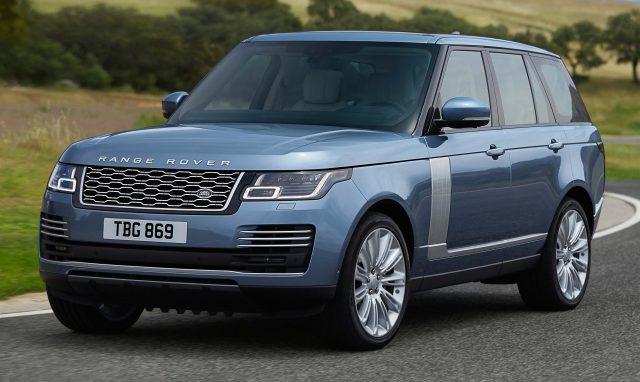 2018 Range Rover facelift - front, blue