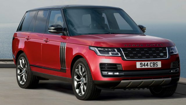 2018 Range Rover SVAutobiography facelift - front, red