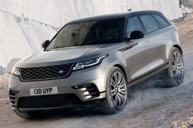 2018 Range Rover Velar - front, gray with black roof