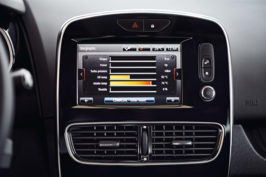Renault Clio RS (IV facelift) - infotainment system
