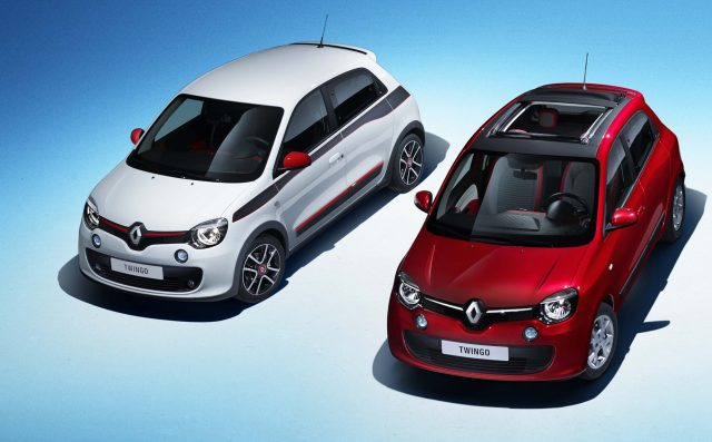 Renault Twingo III - red and white