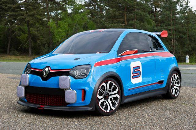 Reanult TwinRun concept - front, blue