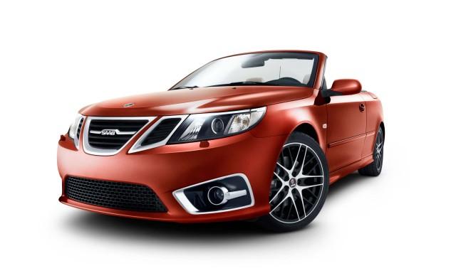 Saab 9-3 convertible - red