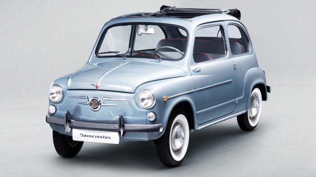 1965 Seat 600 D cabrio restoration - front, blue