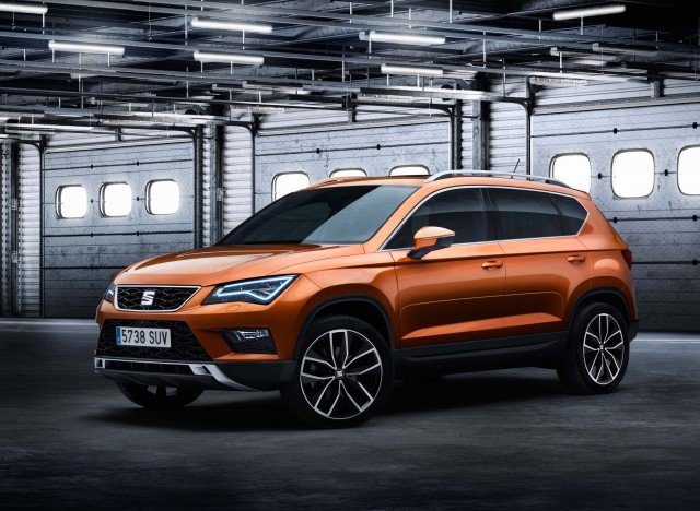 Seat Ateca - front, orange