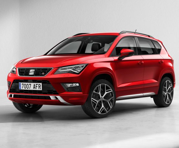 2017 Seat Ateca FR - front, red