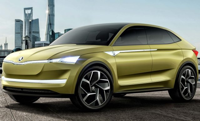 2018 skoda kodiaq coupe chinese coupe suv teased by vision e ev between the axles. Black Bedroom Furniture Sets. Home Design Ideas
