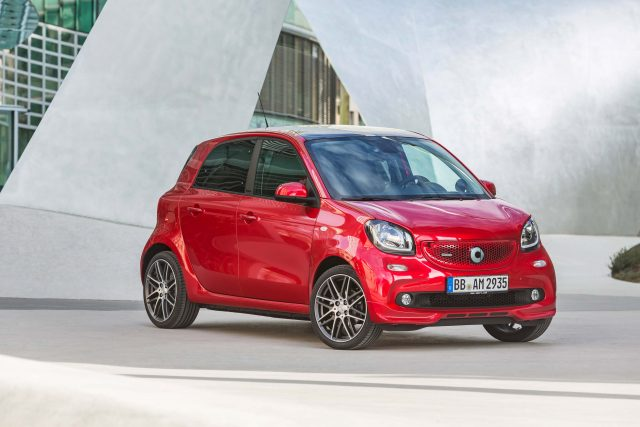 W453 Smart ForFour Brabus Xclusive - front, red