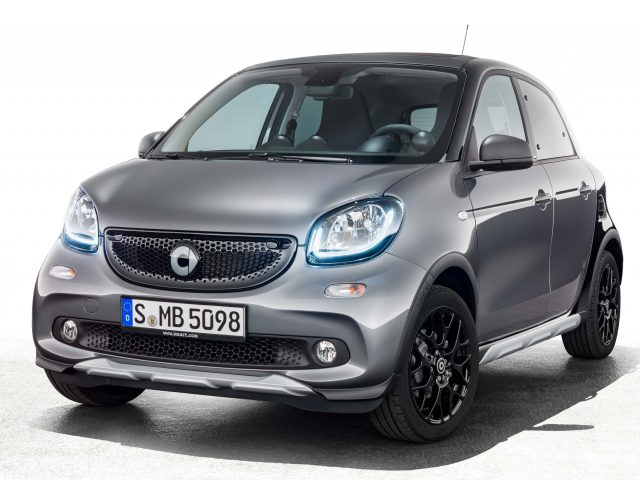 2017 Smart ForFour Brabus Crosstown Edition - front, gray and black