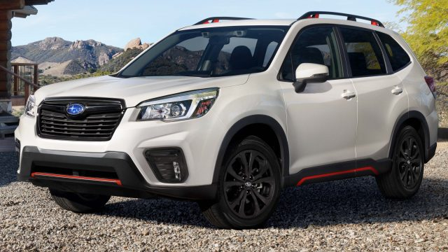2019 Subaru Forester Sport - front, white