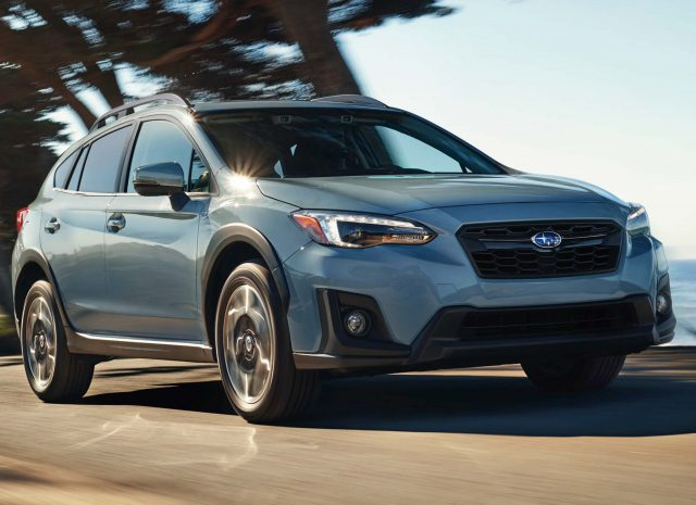 2018 Subaru Crosstrek - front, light blue