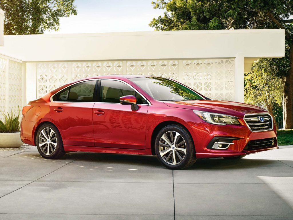 2018 Subaru Legacy facelift - front, red