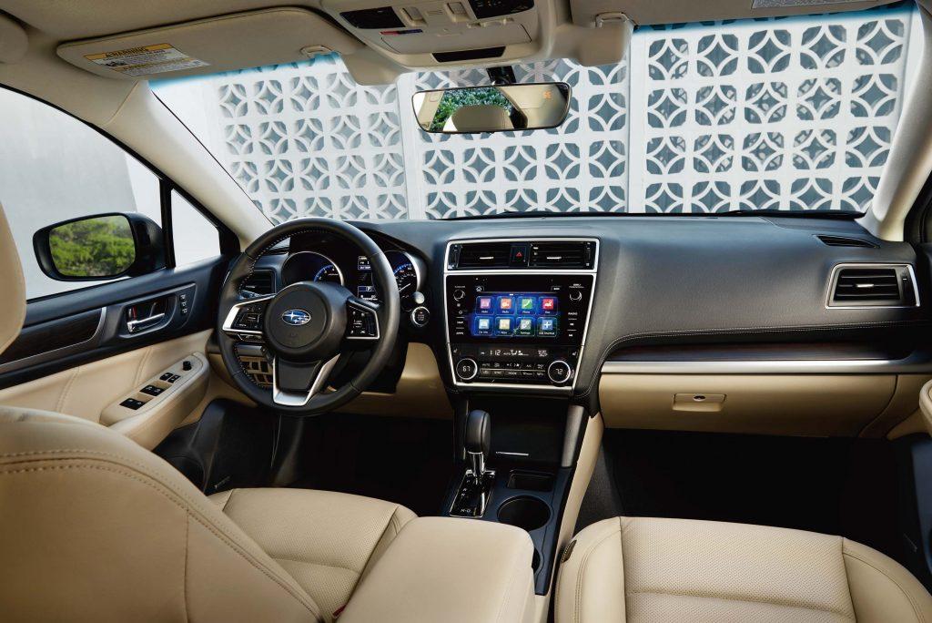 2018 Subaru Legacy facelift - interior, two tone dashboard