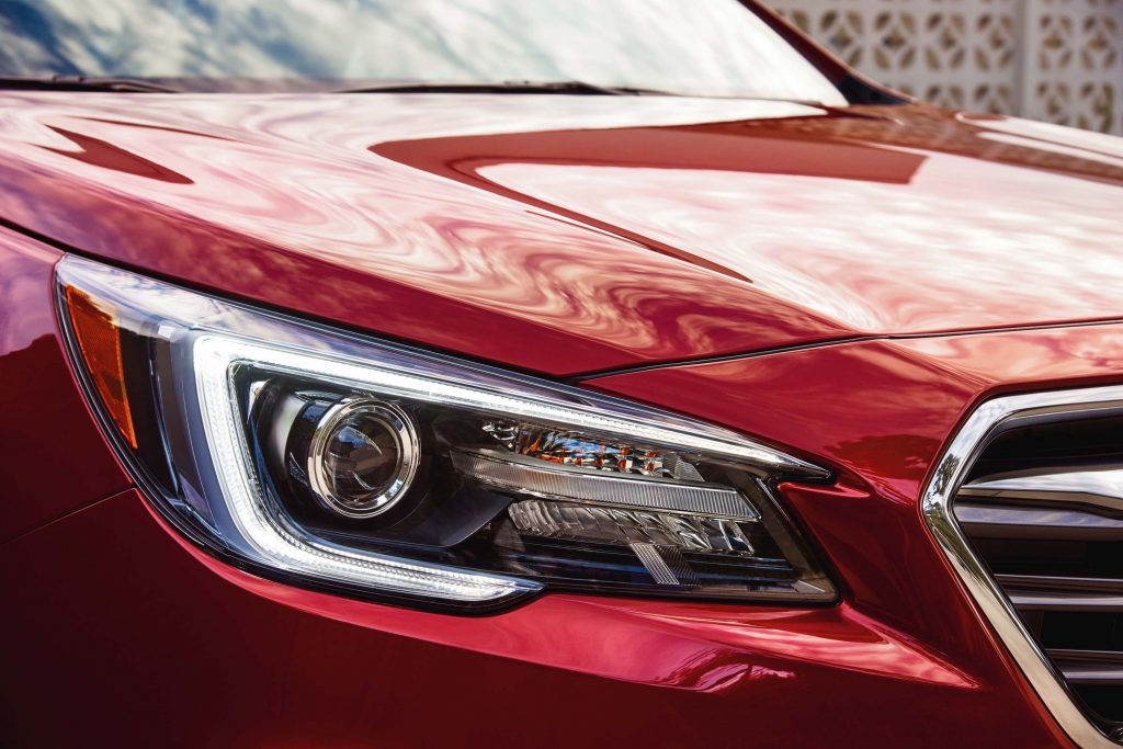2018 Subaru Legacy facelift - new headlamps