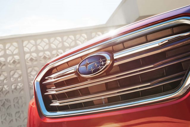2018 Subaru Legacy facelift - new winged grille