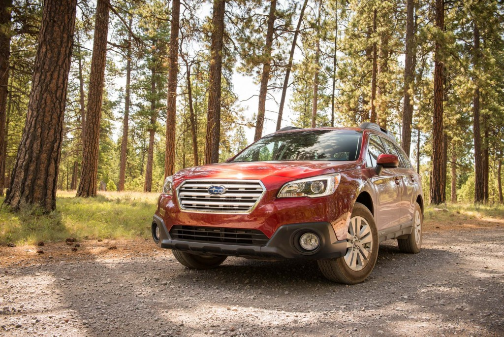 BS Subaru Outback - front, red