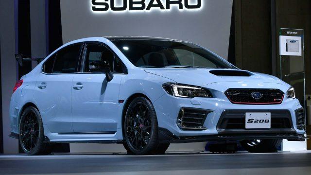 2017 Subaru WRX STI S208 - front, light blue