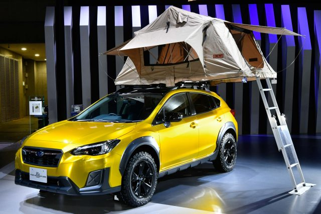 2017 Subaru XV Fun Adventure Concept - front, tent up