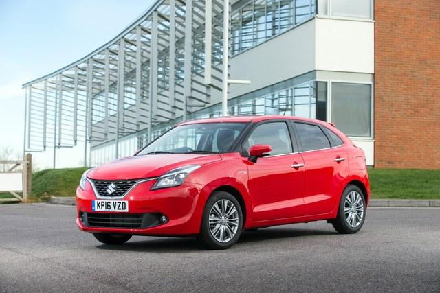 2017 Suzuki Baleno - front, red
