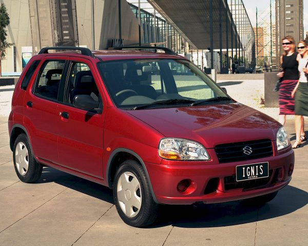 2000-2006 Suzuki Ignis - front, red, 5-door