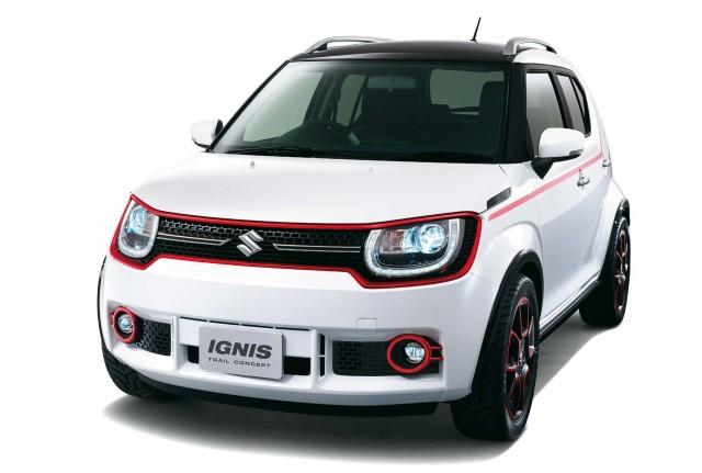 Suzuki Ignis Trail concept - front, white