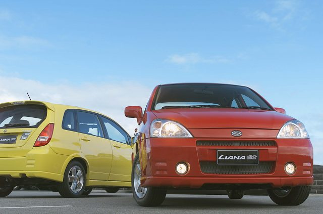 2003 Suzuki Liana GS - front, hatch and sedan