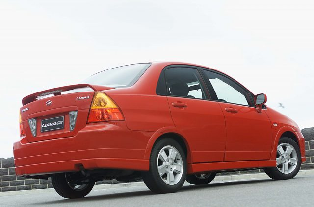 2003 Suzuki Liana GS - rear, sedan