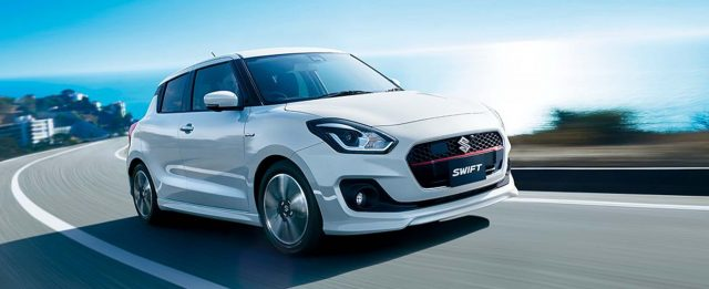 2017 Suzuki Swift - front, white