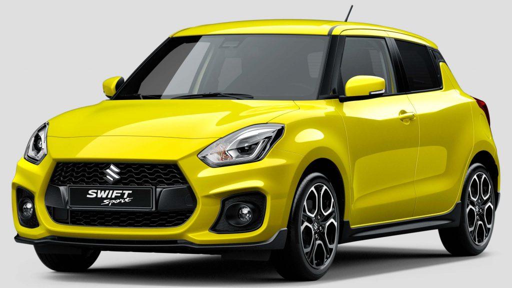 2017 Suzuki Swift Sport - front, yellow