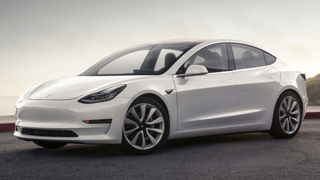 2017 Tesla Model 3 - front, white