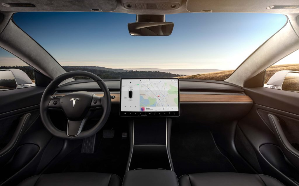 2017 Tesla Model 3 - interior, dashboard