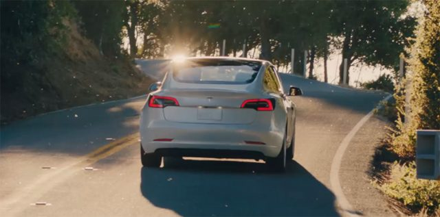 2017 Tesla Model 3 - rear, white