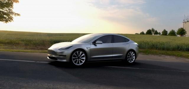 Tesla Model 3 - silver