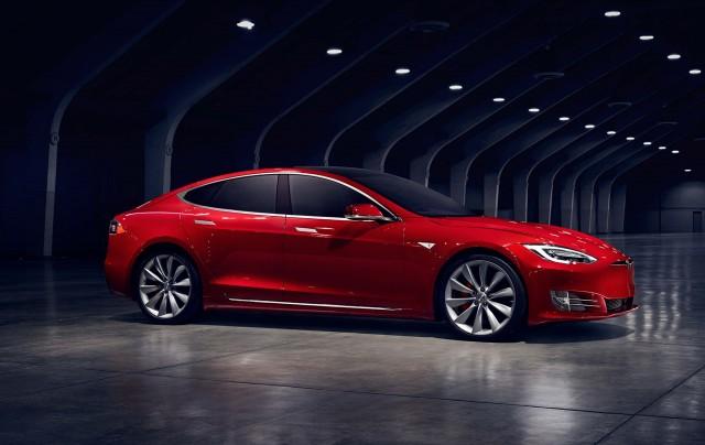 Tesla Model S update (2016) - side, profile