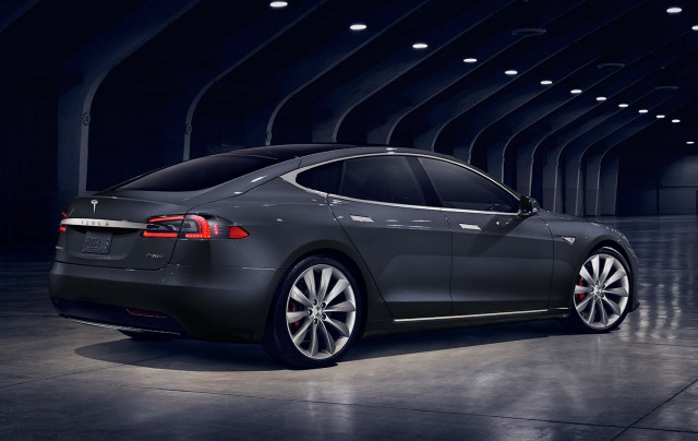 Tesla Model S update (2016) - rear, gray