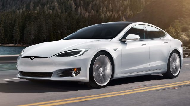 2016 Tesla Model facelift - front, white