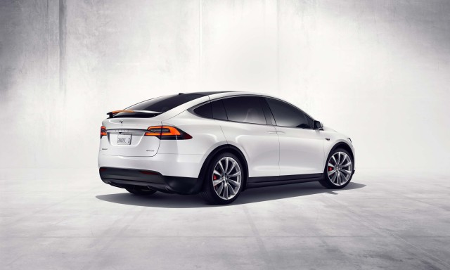Tesla Model X - rear, white