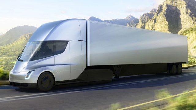 2017 Tesla Semi Concept - front, silver