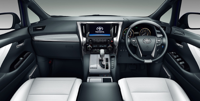 2018 Toyota Alphard facelift - interior, dashboard