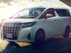 2018 Toyota Alphard facelift - front, white