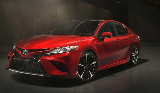 2018 Toyota Camry XSE - front, red