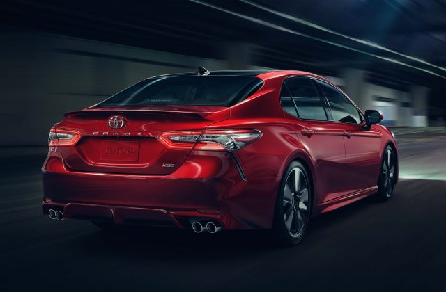 2018 Toyota Camry XSE - rear, red