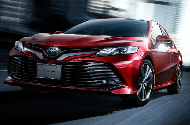 2017 Toyota Camry - front, red, action
