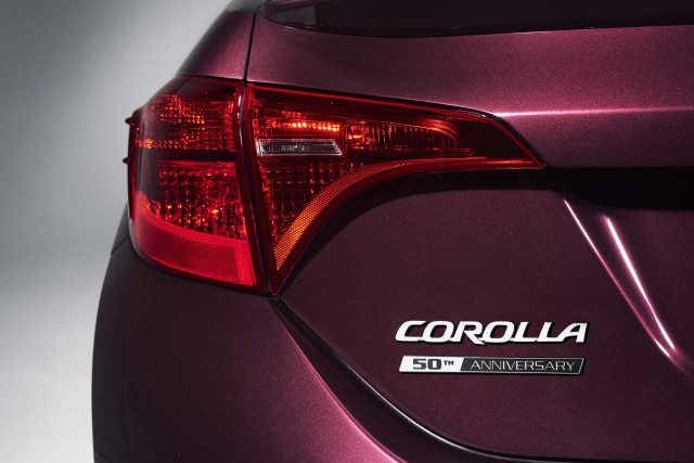 2017 Toyota Corolla 50th Anniversary Edition - red taillamps