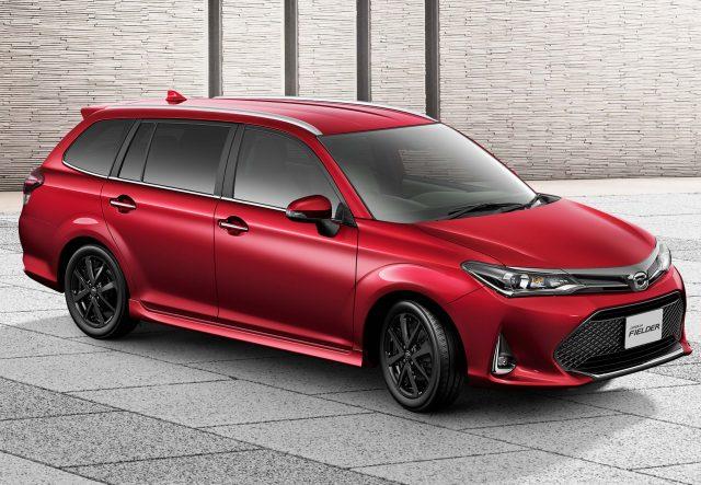 2017 Toyota Corolla Fielder facelift - WxB model, front, red